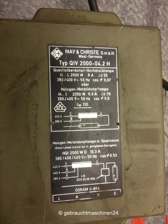 Kranleuchte 2000 WPSH-122222