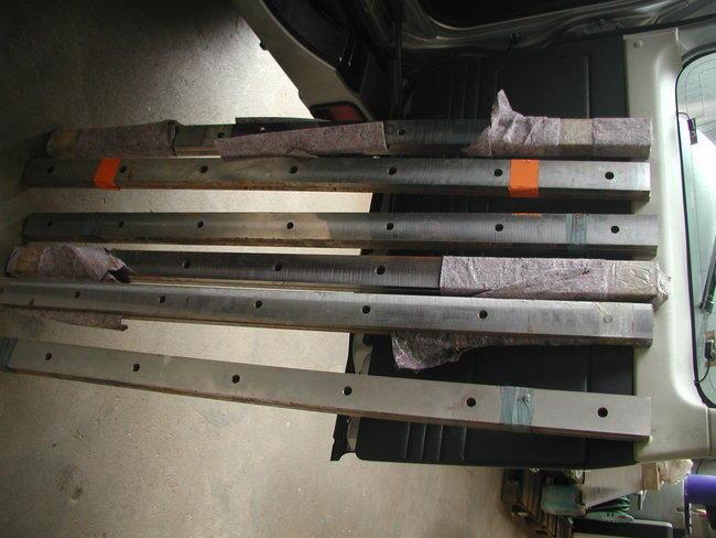 Ersatzmesser für Tafelschere | ScherenmesserTS-H 2550x4