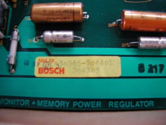 Monitor Memory power regulator board BOSCH Micro8 30366-3017, 30365-304401, 304303