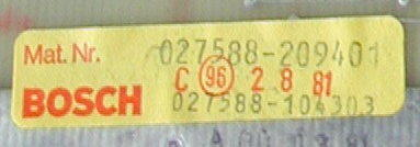 DC input card BOSCH Micro 8 - 24 V027588-209401, 027588-104303
