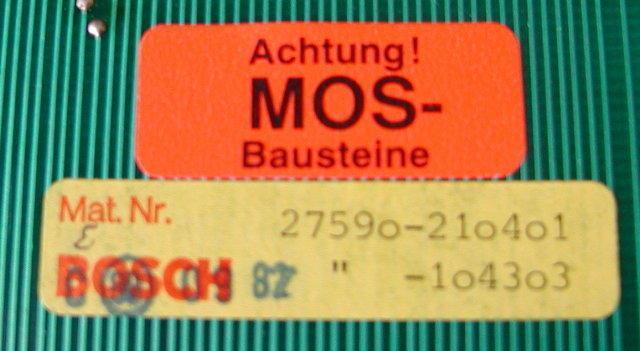 DC output card BOSCH Micro 8, 24 V27590-210401, 27590-104303