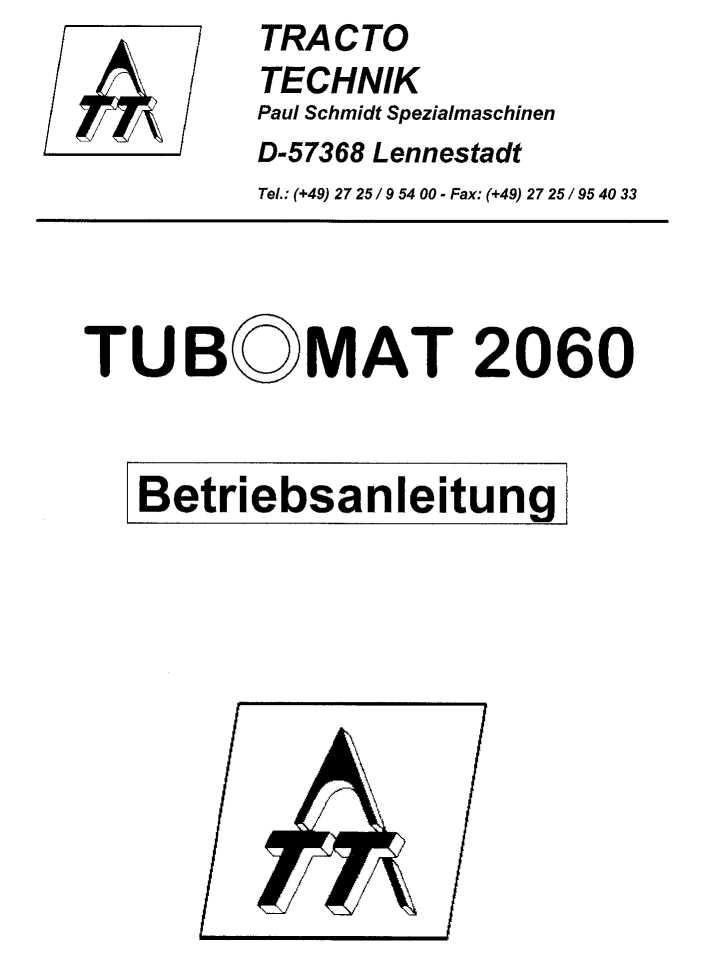 HandbuchTubomat 2060