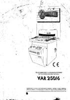Bedienungsanleitung Comaca VAR 250-6 Comaca VAR 250/6