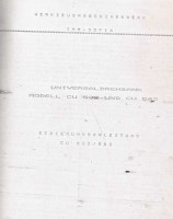 Bedienungsanleitung ZMM Sofia CU 502 - 582