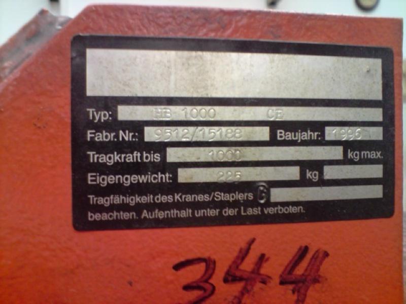 Werkstattkarn Motorheber MontagekranHB 1000