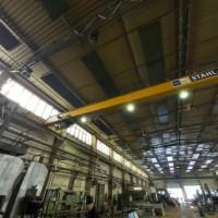 Einträgerbrückenkran 3,2 to Stahl 22.300 mm
