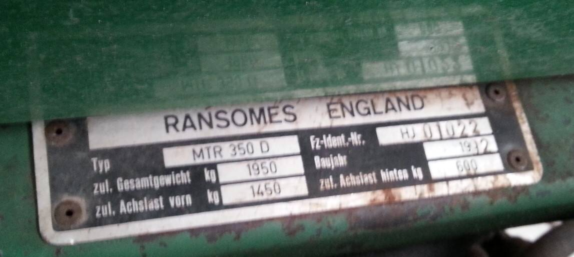 Ransomes 350 D