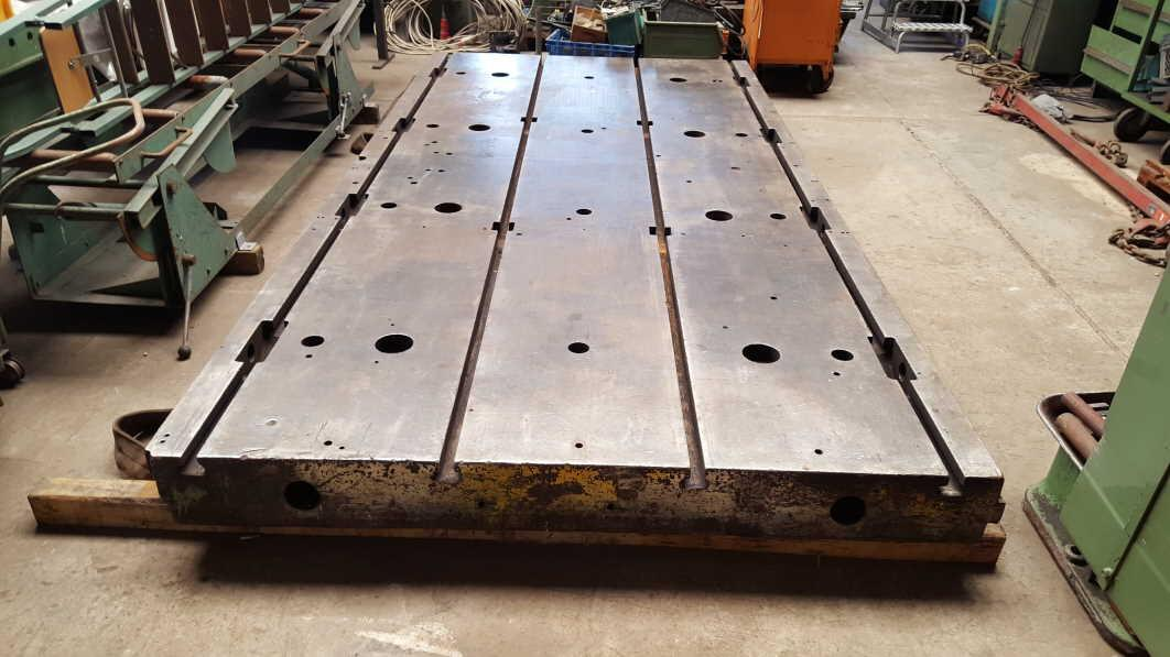 Aufspannplatte aus Guss, T-Nutenplatte4000 x 2000 x 200 mm