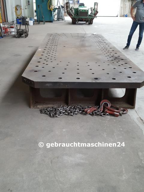 Richtplatte, Schweißtisch, Lochplatte4500 x 1800 x 100 mm