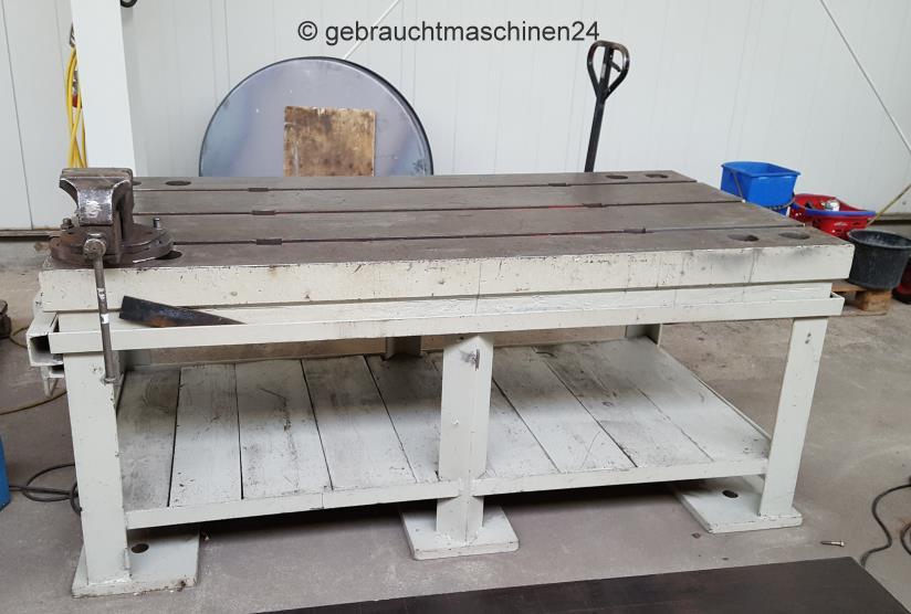 Aufspannplatte, Guss, mit T-Nuten und Tischgestell2000 x 1000 mm