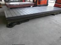 Anreißplatte mit Rauten Guss verrippt5000 x 1750 x 310 mm