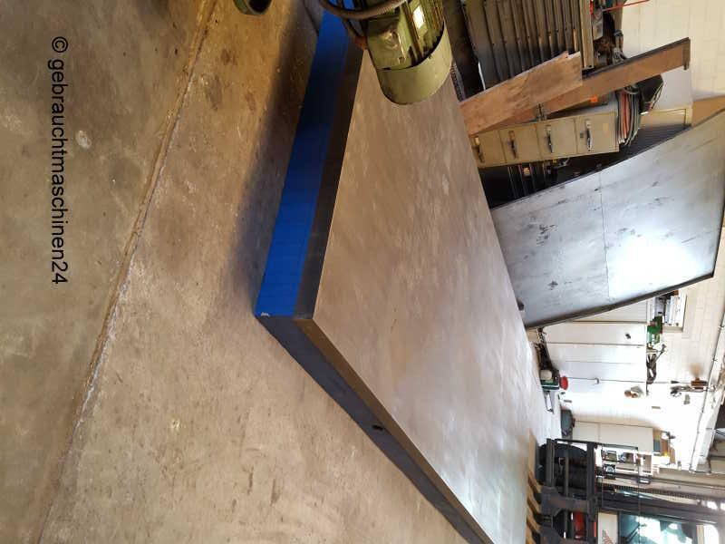 Anreißplatte - Richtplatte mit Kegelfüßen5 x 2 m