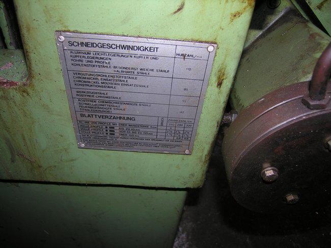 Bügelsäge, hydraulisch320