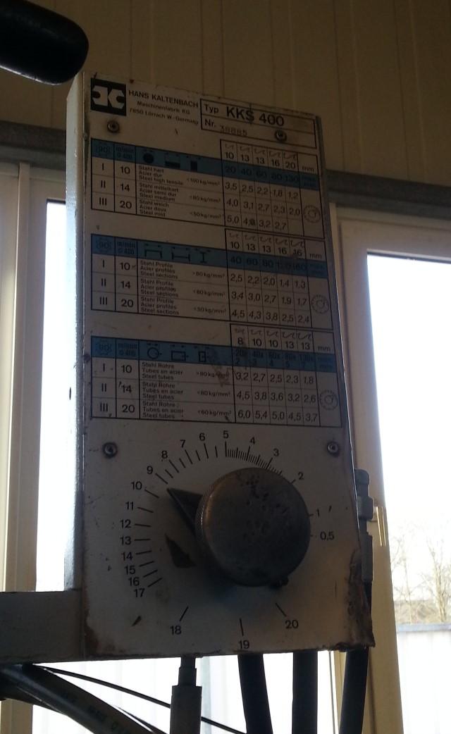 Unterflursäge, Kaltkreissäge gebrauchtKKS 400