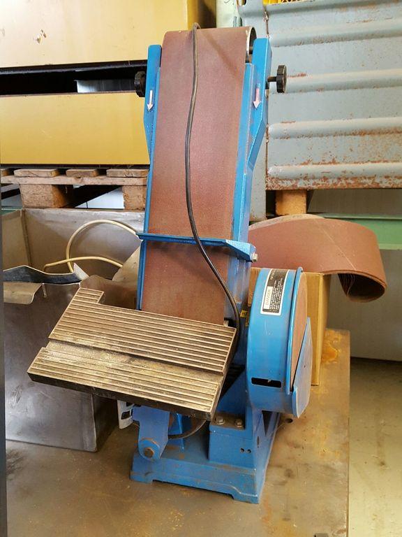 Bandschleifer 150 mm mit TellerschleiferTischgerät