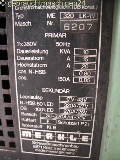 Schutzgasschweißgerät 320 A wassergekühlt320 LK-W