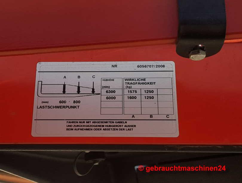 Schubmaststapler 1,6 to TriplexmastRR-B2