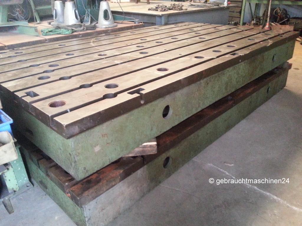 2 T-Nutenplatten2.000 x 3.500 x 350 mm