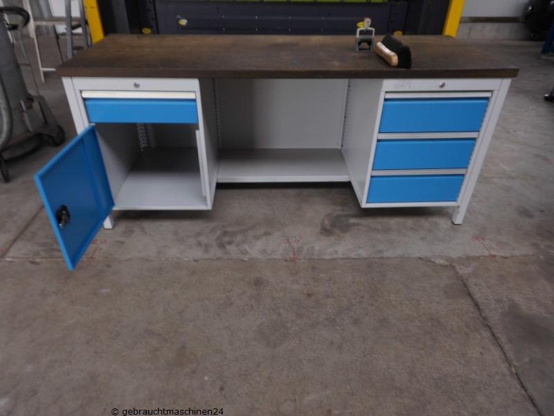 Rau Werkbank gebraucht 2 m Schubladen Unterschränke