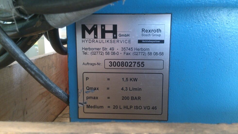 Hydraulikaggregat 1,5 kW200 bar